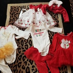 6-9 month baby girl xmas lot